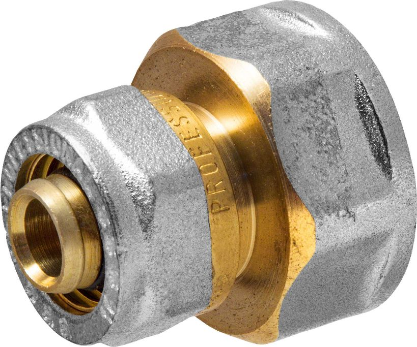 Соединитель RVC, ц/г, внутренняя резьба 16 мм х 3/4BL505Соединитель RVC предназначен для соединения металлопластиковых труб. При установке данного фитинга не требуется специальное оборудование, достаточно разводного ключа. Соединение получается разъемным, что позволяет при необходимости произвести обслуживание участка трубопровода. Для обслуживания самого фитинга достаточно сменить уплотнительные кольца. Рабочая температура до 95 С, нормативное рабочее давление до 10 бар. Материал корпуса - никелированная латунь CW617N.