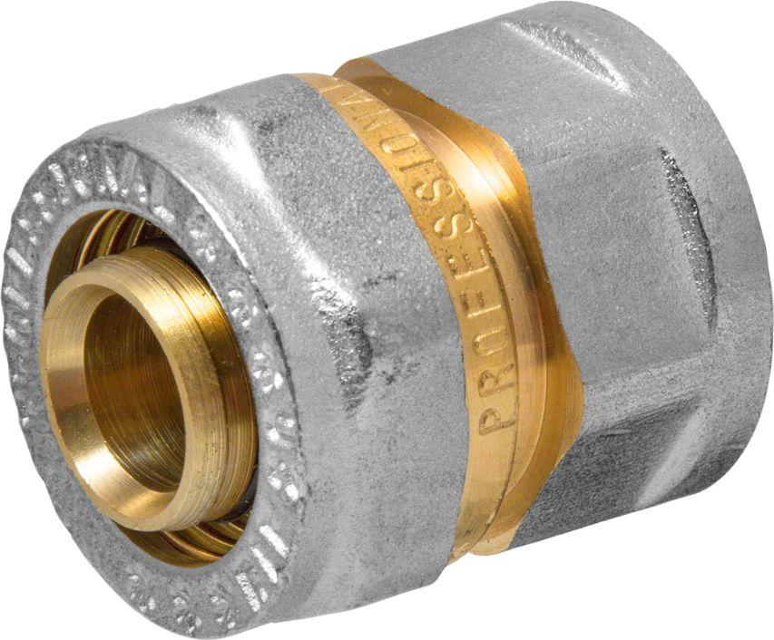 Соединитель RVC, ц/г, внутренняя резьба 20 мм х 1/2BL505Соединитель RVC предназначен для соединения металлопластиковых труб. При установке данного фитинга не требуется специальное оборудование, достаточно разводного ключа. Соединение получается разъемным, что позволяет при необходимости произвести обслуживание участка трубопровода. Для обслуживания самого фитинга достаточно сменить уплотнительные кольца. Рабочая температура до 95 С, нормативное рабочее давление до 10 бар. Материал корпуса - никелированная латунь CW617N.