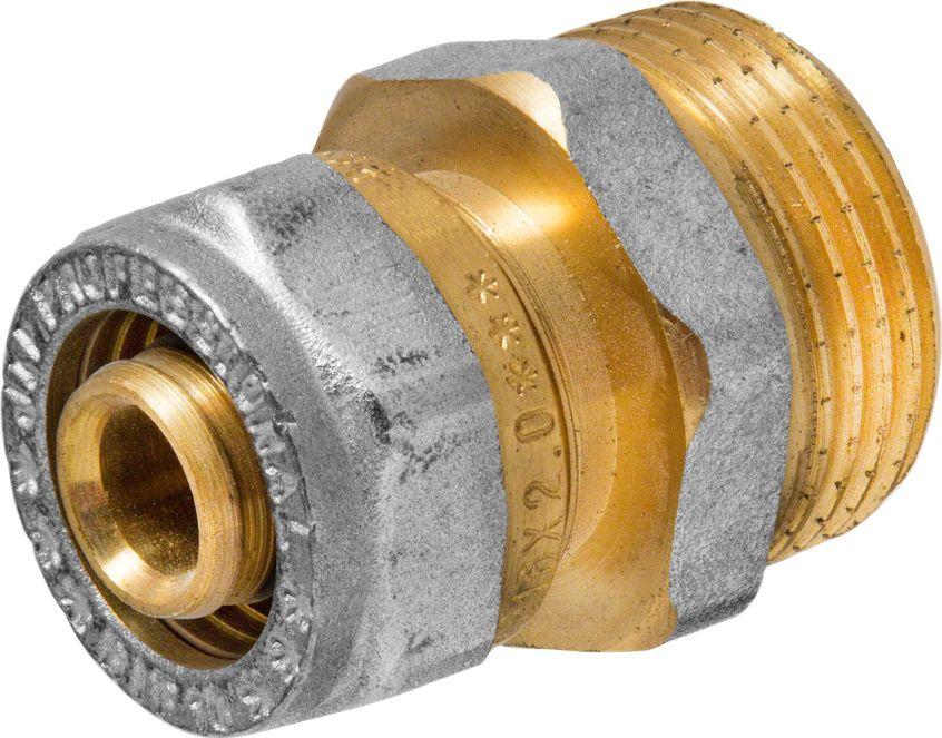Соединитель RVC, ц/ш, наружная резьба 16 мм х 3/468/5/3Соединитель RVC предназначен для соединения металлопластиковых труб. При установке данного фитинга не требуется специальное оборудование, достаточно разводного ключа. Соединение получается разъемным, что позволяет при необходимости произвести обслуживание участка трубопровода. Для обслуживания самого фитинга достаточно сменить уплотнительные кольца. Рабочая температура до 95 С, нормативное рабочее давление до 10 бар. Материал корпуса - никелированная латунь CW617N.