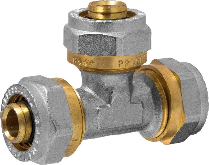 Тройник RVC, ц/ц/ц, 16 х 16 х 16 ммBL505Тройник RVC предназначен для соединения металлопластиковых труб. При установке данного фитинга не требуется специальное оборудование, достаточно разводного ключа. Соединение получается разъемным, что позволяет при необходимости произвести обслуживание участка трубопровода. Для обслуживания самого фитинга достаточно сменить уплотнительные кольца. Рабочая температура до 95 С, нормативное рабочее давление до 10 бар. Материал корпуса - никелированная латунь CW617N.