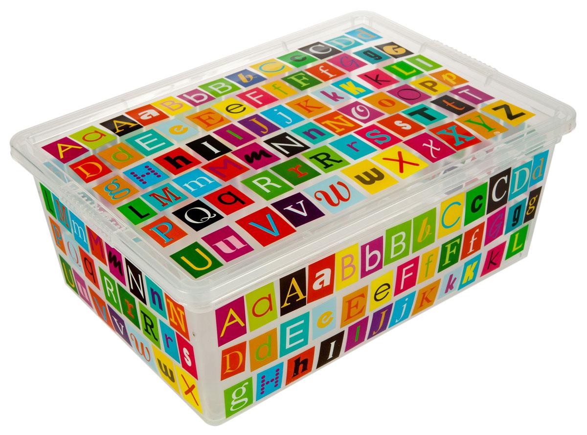 Контейнер для хранения ABM ABC, 5 лZ-0307Контейнер ABM ABC выполнен из прочного полипропилена, пригодного и для контакта с пищевыми продуктами. Материал безопасен для здоровья, не токсичен, не имеет запаха, не вызывает аллергических реакций. Внешние стенки изделия декорированы буквами английского алфавита. В нем удобно хранить различные бытовые вещи, позволит сохранить их в порядке и защитит содержимое от пыли и грязи. Контейнер плотно закрывается крышкой.