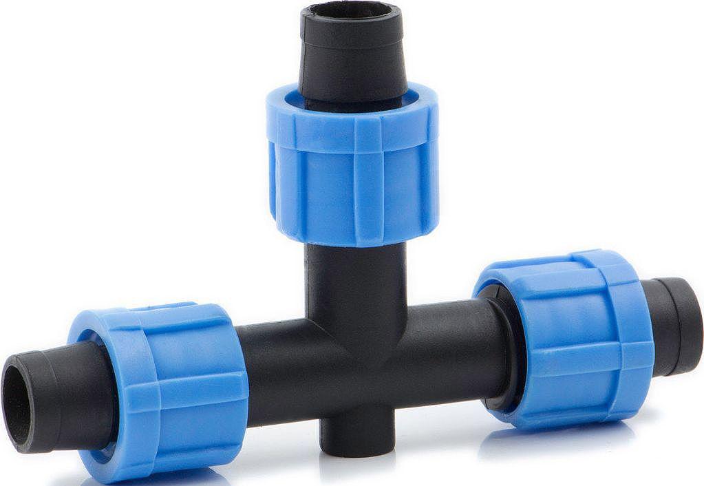 Тройник зажимной MasterProf, для ленты капельного поливаА00319Тройник для соединения капельных лент стандарта 16 мм. Для разводки воды можно использовать слепую капельную ленту без водовыпусков.