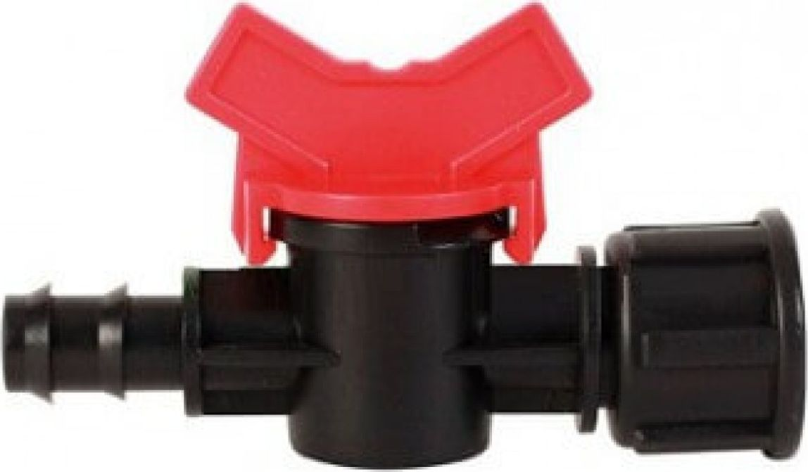 Кран MasterProf, 1/2 внутренняя резьба х 16 мм106-026Предназначен для соединения капельной трубки (ПВХ) 16 мм и трубы, либо муфты с наружной резьбой 1/2. Материал: пластик.