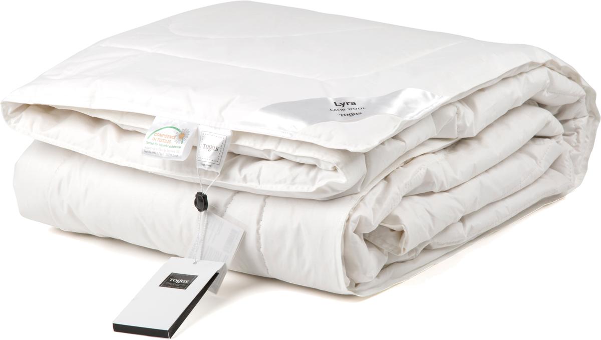 Одеяло Togas Лира, наполнитель: овечья шерсть, цвет: белый, 200 х 210 см531-103Одеяло Лира. Наполнитель: шерсть.Состав чехла: 100% хлопок 233ТС. Состав наполнителя: 100% овечья шерсть 250гр/м2.Степень тепла: всесезонное одеяло.Комплектация: 1 одеяло.Размер: 200 x 210 см. Уход: может применяться машинная стирка при температуре не выше 30°C, не отбеливать, не гладить, сухая чистка.