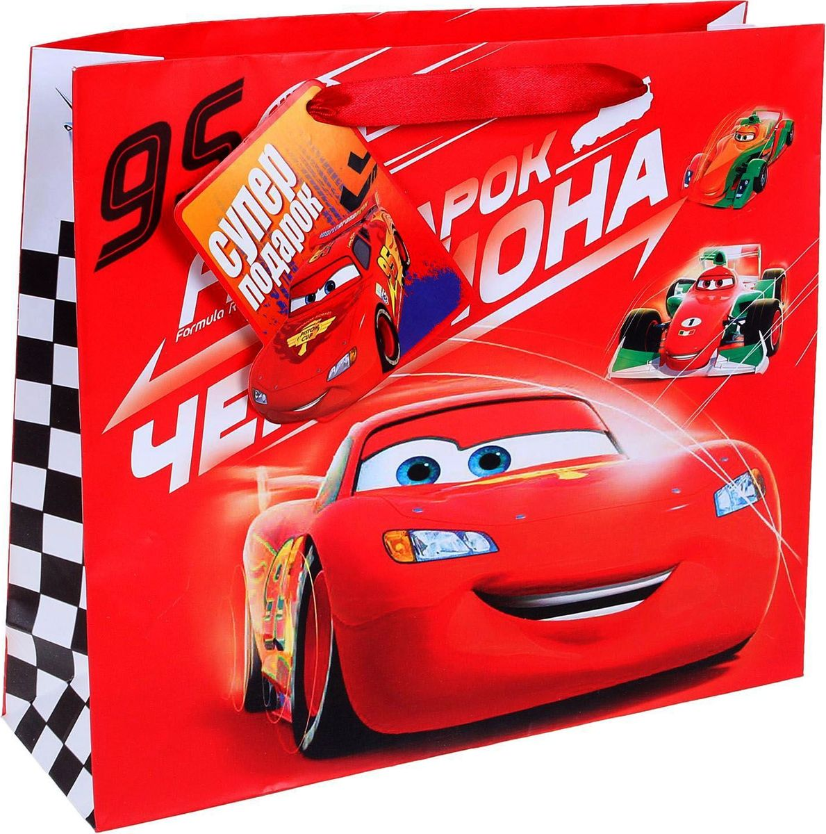 Disney Пакет подарочный Подарок чемпиона 27 х 23 см -  Подарочная упаковка
