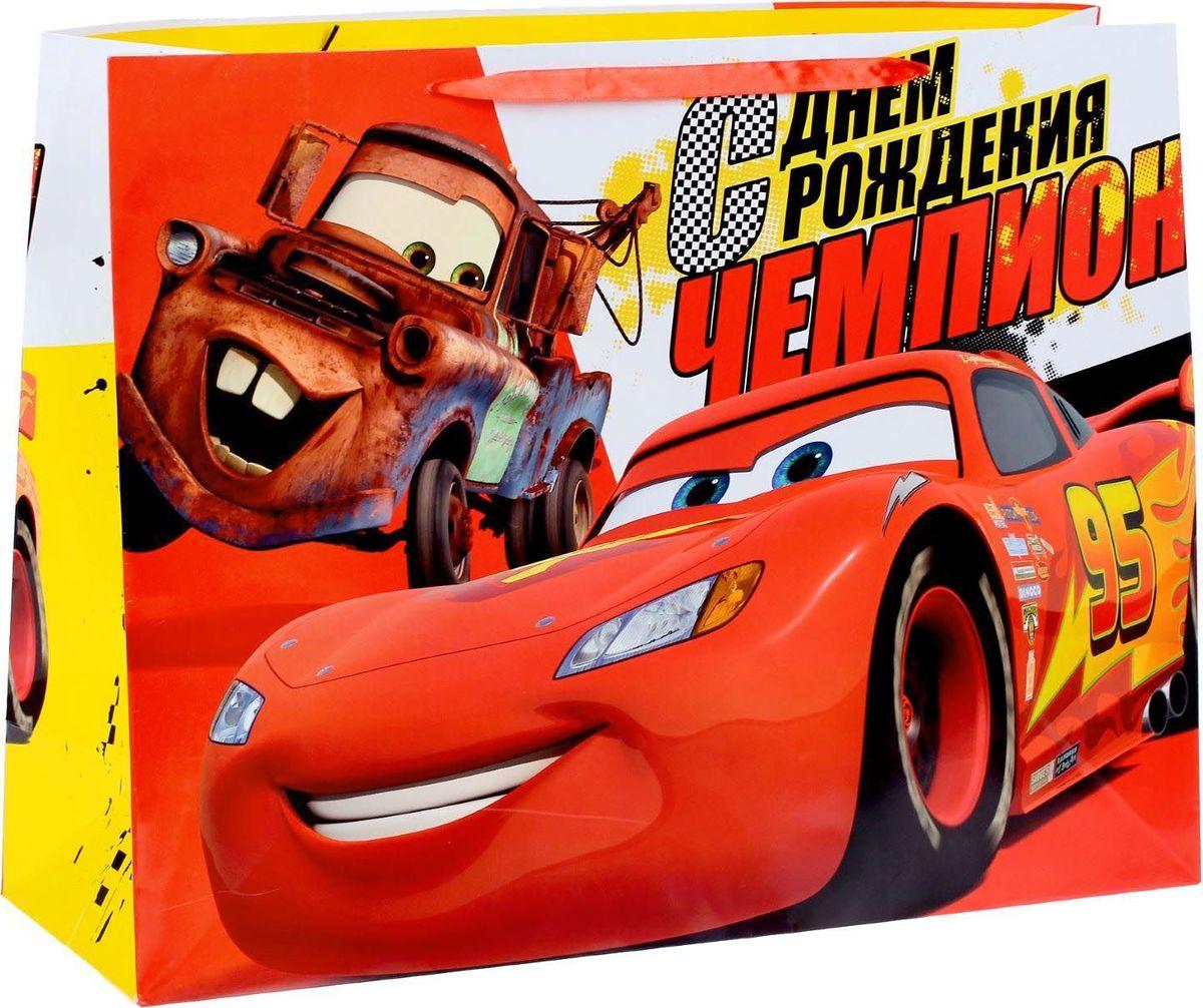 Disney Пакет подарочный Чемпиону Тачки 61 х 46 х 20 см -  Подарочная упаковка