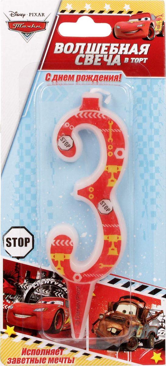 Disney Свеча для торта Тачки С днем рождения Цифра 3 1446492