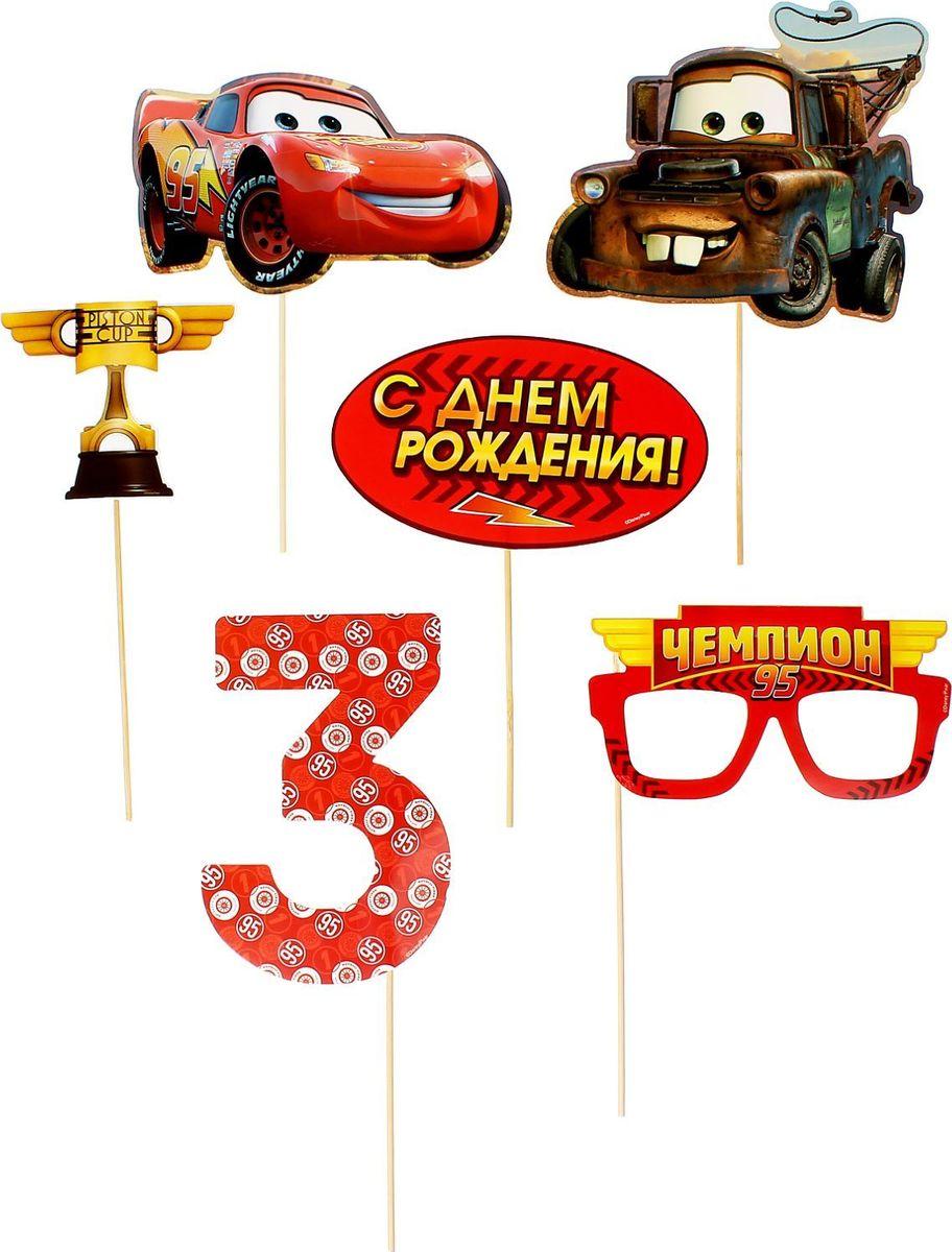 Disney Набор аксессуаров для фотосессии на палочке Тачки 6 предметов -  Карнавальные костюмы и аксессуары
