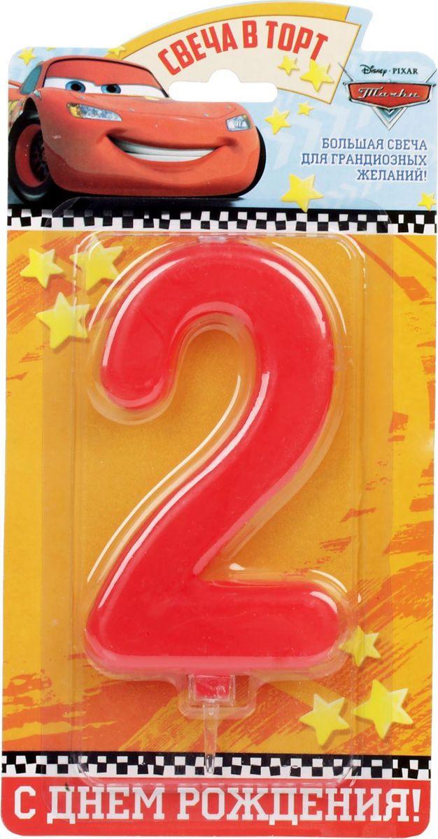 Disney Свеча для торта Тачки С днем рождения Цифра 2 1689423
