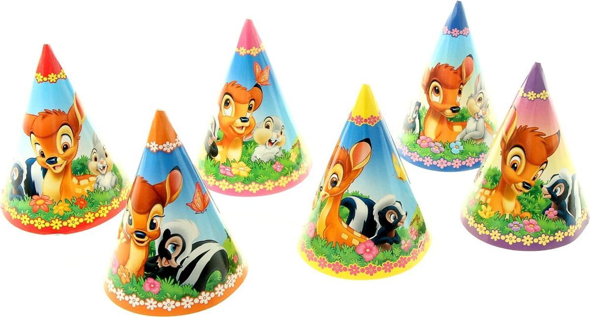 Disney Набор колпаков Бемби 6 шт -  Колпаки и шляпы