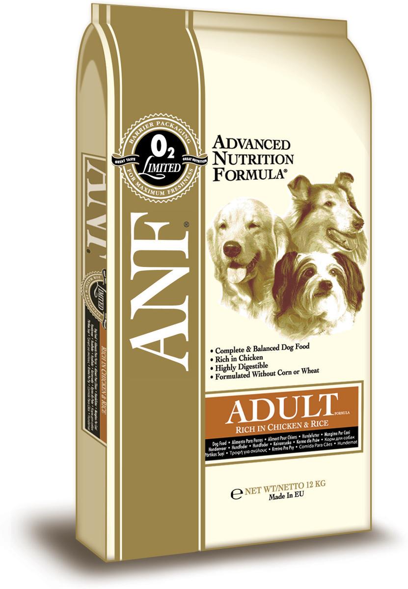 Сухой корм ANF Дог Эдалт Чикен энд Райс, для взрослых собак, с мясом курицы и рисом, 12 кг0120710Великолепный вкус. который понравится вашей собаке Полностью сбалансированный состав, удовлетворяющий все питательные потребности взрослой собаки Тройной источник белка животного происхождения с оптимальным содержанием необходимых аминокислот (мясо курицы, рыбная мука, яйца).СОСТАВ: дробленный белый рис (мин.34%), куриная мука (мин.33%), овес, куриный жир (содержащий консерванты их токоферолов), свекловичный жом, рыбная мука, яичный порошок, льняное семя, карбонат кальция, соус из куриной печени, хлорид калия, рыбий жир, холинхлорид, пивные дрожжи, смесь токоферола (витамин Е) (альфа-токоферола ацетат), экстракт Yucca Schidigera, аскорбил монофосфат, сульфат железа, сульфат цинка, сульфат марганца, сульфат меди. смесь витамина В12, смесь витамина А (ретинилацетат), витамин РР, смесь селенита натрия, смесь витаимина D3 (холекальциферол), смесь витамина Н (биотин), пантотенат кальция, витамин В1 (тиамина мононитрат), смесь витамина В2 (рибофлавин), витамин В6 (пиридоксина гидрохлорид), йодат кальция, фолиевая кислота. ГАРАНТИРОВАННЫЙ СОСТАВ: Белок - 26,00% Жир - 15,00% Сырая зола - 9,00% Сырая клетчатка - 4,00% Влажность - 8,00% Кальций (Са) - 1,95% Фосфор (Р) - 1,09% Жирные кислоты Омега-6 - 2,72% Жирные кислоты Омега-3 - 0,79% Витамин А - 25,694 МЕ/кг Витамин D3 - 2,292 МЕ/кг Витамин Е - 182 МЕ/кг Витамин С - 185 мг/кг Пентагидрат сульфата меди - 61,11 мг/кг Энергетическая ценность - 352 ккал/ 100 гр.