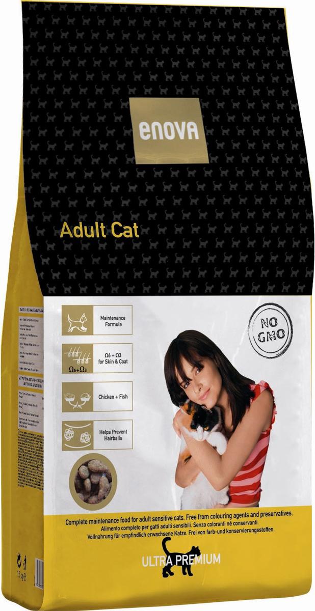 Сухой корм Enova Кет Эдалт, для взрослых кошек, 400 г0120710Сбалансированное питание для взрослых кошек. Сбалансированный рацион для взрослых коше всех пород. Курица, рыба, яйца - источники животного белка. Омега-6+Омега-3. Специальная смесь из растительных волокон.СОСТАВ:дегидратированное мясо курицы (мин.21,5%), рис, куриный жир, рисовый глютен, коричневый рис, рыбная мука, мука из печени, белковый гидролизат, яичный порошок, льняное семя, сушеная свекольная пульпа, целлюлоза, рисовые отруби, рыбий жир, сухие дрожжи, порошок цикория, калия хлорид, натрия хлорид. АНТИОКСИДАНТЫ:токоферолы, пропилгаллат. АНАЛИЗ: белок 33%, жиры 20%, клетчатка 3,5%, зола 7%, кальций 1,15%, фосфор 1,1%, магний 0,09%, влажность 10%, Омега6 2,6%, Омега3 0,8%. ВИТАМИНЫ И ДОБАВКИ НА 1 КГ: Витамин А - 16,500 МЕ, Витамин D3 - 1,500 МЕ, Витамин Е - 150мг, Медь - 10 мг, Окись цинка - 30 мг, Цинка хелат - 40 мг, Йод - 2 мг, Селен - 0,2 мг, Таурин - 1,300 мг. Энергетическая ценность: 3965 Ккал/кг.