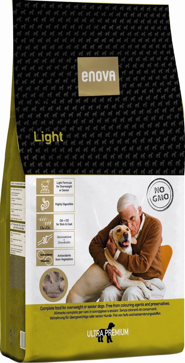 Сухой корм Enova Дог Лайт, для собак склонных к ожирению и/или пожилых, 14 кг0120710Сбалансированное питание для взрослых собак, имеющих лишний вес или склонных к полноте, а так же пожилых собак старше 7 лет. Низкокалорийный рацион с пониженным содержанием жира. Высокая степень усвояемости. Омега-6+Омега-3 - правильное соотношение. Высокое содержание особых веществ для здоровья суставов и хрящевой тканей позволяют использовать данный рацион в питании стареющих животных (старше 7 лет). Натуральные источники природных антиоксидантов и витаминов.СОСТАВ: рис, дегидратированное мясо курицы (мин.20%), коричневый рис, сушеная свекольная пульпа, рисовые отруби, яичный порошок, льняное семя, дикальций фосфат, гидролизат белка, сушеная морковь, сушеный томатный жмых, сушеные водоросли, сушеные дрожжи, рыбий жир, куриный жир. натрия хлорид, калия хлорид, целлюлоза, глюкозамин 1000 мг/кг, хондроитина сульфат 1000 мг/кг, экстракт розмарина. АНТИОКСИДАНТЫ: токоферолы, пропилгаллат. АНАЛИЗ: белок 20,5%, жиры 8%, клетчатка 3,5%, зола 7,5%, кальций 1,25%, фосфор 1%, влажность 10%. Омега6 3%, Омега3 0,7%. ВИТАМИНЫ И ДОБАВКИ НА 1 КГ: Витамин А - 12,000 МЕ, Витамин D3 - 1,200 МЕ, Витамин Е (альфа-токоферол) - 70мг, Медь (пятиводный сульфат меди) - 10 мг, Окись цинка - 70 мг, Йод - 2 мг, Селен - 0,2 мг. Энергетическая ценность: 3475 Ккал/кг