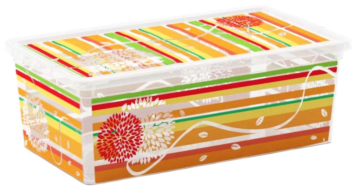 Контейнер для хранения ABM Цветы и полоски, 5 л41619Контейнер ABM Цветы и полоски выполнен из прочного полипропилена, пригодного и для контакта с пищевыми продуктами. Материал безопасен для здоровья, не токсичен, не имеет запаха, не вызывает аллергических реакций. Внешние стенки изделия декорированы ярким рисунком. В нем удобно хранить различные бытовые вещи, позволит сохранить их в порядке и защитит содержимое от пыли и грязи. Контейнер плотно закрывается крышкой.