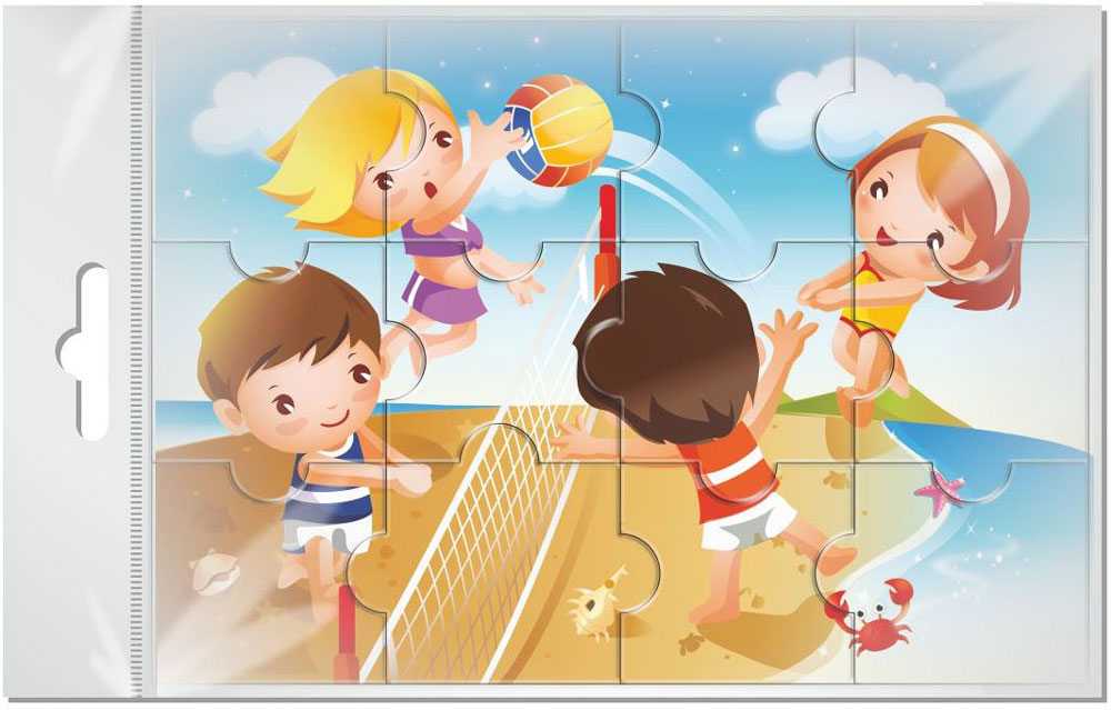 Издательская группа Квадра Пазл для малышей Волейбол издательская группа квадра пазл для малышей осьминог