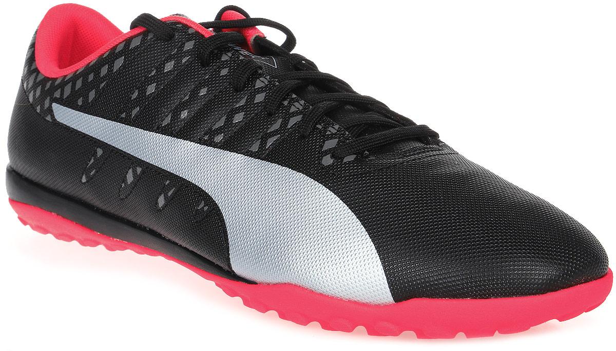 Бутсы муж Puma Evopower Vigor 4 Tt, цвет: черный, розовый. 10396502. Размер 10,5 (44)10396502