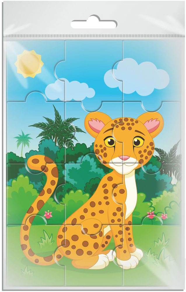 Издательская группа Квадра Пазл для малышей Леопард издательская группа квадра пазл для малышей осьминог
