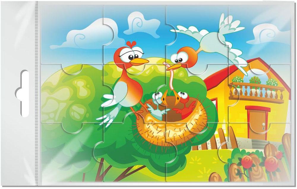 Издательская группа Квадра Пазл для малышей Птицы издательская группа квадра пазл для малышей осьминог