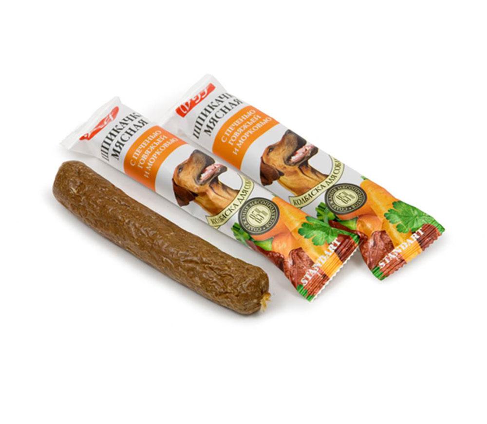 Лакомство для собак Biff Шпикачка с говяжьим легким и тыквой0120710Колбаски для собак Biff Шпикачка с говяжьим легким и тыквой изготовлены из говяжьего мяса и мясных субпродуктов по колбасной технологии с добавлением таких полезных компонентов, как кукуруза, тыква и легкое говяжье. Натуральный продукт, который не содержит красителей и консервантов.Состав: Мясо и мясные субпродукты (более 85%), кукуруза, тыква, минеральные вещества.