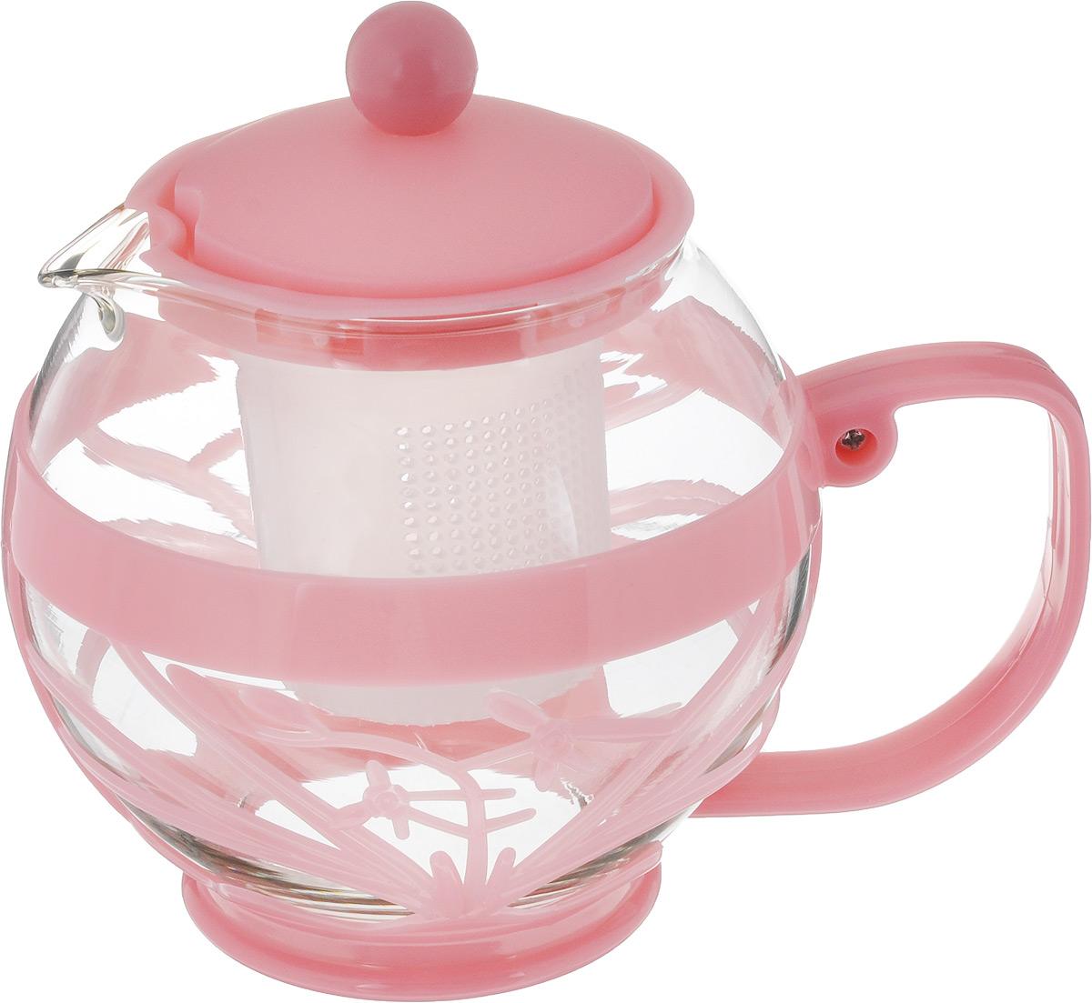 Чайник заварочный Wellberg Aqual, с фильтром, цвет: прозрачный, розовый, 800 мл361 WB_розовыйЗаварочный чайник Wellberg Aqual изготовлен из высококачественного пластика и жаропрочного стекла. Чайник имеет пластиковый фильтр и оснащен удобной ручкой. Он прекрасно подойдет для заваривания чая и травяных напитков. Такой заварочный чайник займет достойное место на вашей кухне.Высота чайника (без учета крышки): 11,5 см.Высота чайника (с учетом крышки): 14 см. Диаметр (по верхнему краю) 7 см.Высота сито: 6 см.
