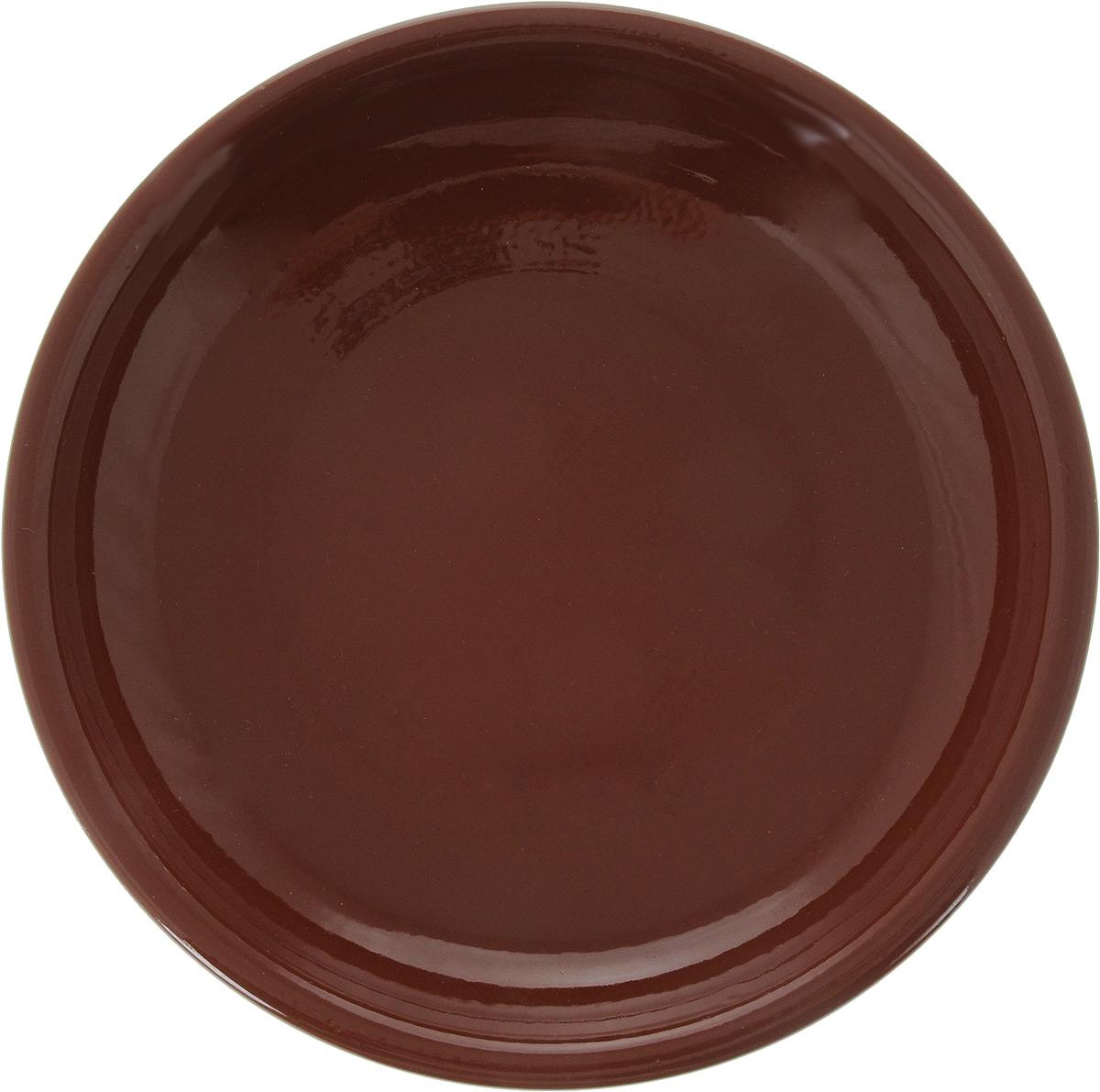 Тарелка Борисовская керамика Радуга, цвет: красно-коричневый, диаметр 18 смРАД00000458_красно-коричневыйТарелка Борисовская керамика Радуга изготовлена из керамики. Изделие идеально подойдет для сервировки стола. Тарелка отлично впишется в любой интерьер современной кухни и станет отличным подарком для вас и ваших близких.Можно использовать в духовке и микроволновой печи.Диаметр тарелки: 18 см.Высота тарелки: 3 см.