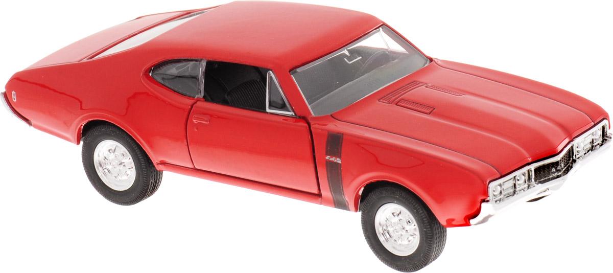 Welly Модель автомобиля Oldsmobile 442 1968 welly модель автомобиля audi r8 v10 цвет красный
