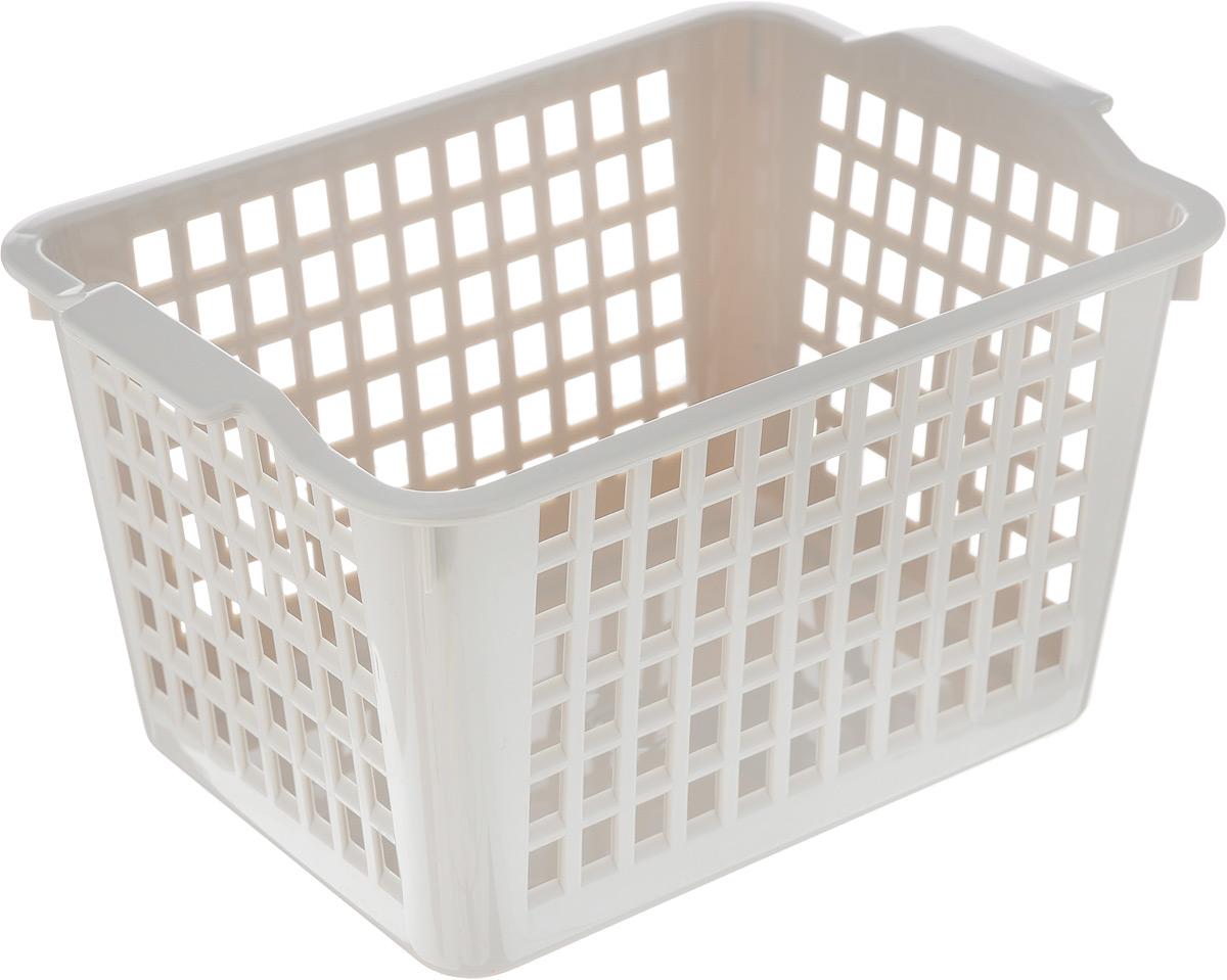 Корзинка универсальная Econova, цвет: серый, 21 х 14,6 х 11,3 см718340_серыйУниверсальная корзинка Econova изготовлена из высококачественного пластика с перфорированными стенками и сплошным дном. Такая корзинка непременно пригодится в быту, в ней можно хранить кухонные принадлежности, специи, аксессуары для ванной и другие бытовые предметы, диски и канцелярию.