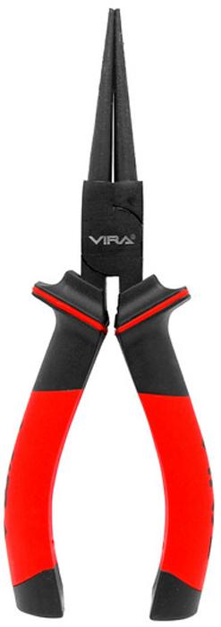 Круглогубцы Vira, 6 двухкомпонентные ручки. 311042VCA-00Круглогубцы Vira предназначены для фигурного сгибания проволоки. Конусная форма их губок дает возможность делать изгиб с разным радиусом. Инструмент изготовлен из высококачественной инструментальной стали CS55. Режущие кромки круглогубцев дополнительно закалены, их твердость составляет 56-62 HRC. На рабочую часть нанесено воронение, которое защищает инструмент от коррозии, тем самым значительно увеличивая срок его службы. Двухкомпонентные рукоятки, созданные с учетом эргономики кисти, обеспечивают более надежный захват инструмента и больший комфорт в работе.Инструмент полностью отвечает требованиям стандарта GS (немецкий стандарт Geprufte Sicherheit), что свидетельствует о его надежности и высоком качестве исполнения.