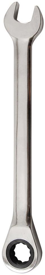 Ключ комбинированный Vira, с храповым механизмом, 13 мм. 511069CA-3505Ключ комбинированный с храповым механизмом Vira используется для эффективного откручивания и закручивания резьбовых соединений, которые находятся в ограниченном пространстве. Храповый механизм обеспечивает комфорт в работе, так как исключает необходимость перехватывания кисти руки. Храповый механизм выполнен из металла, 72 зуба. Материал ключа - сталь.