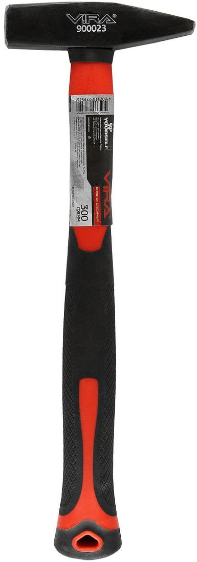 Молоток слесарный Vira, 300 г. 900023GSR 1080-2-LIМолоток слесарный Vira весом 300 г предназначен для мелких монтажных и строительных работ. Головка инструмента выполнена из высококачественной полированной стали что придает ей высокую прочность. Эргономичная пластиковая обрезиненная ручка амортизирует удар и обеспечивает удобный захват.