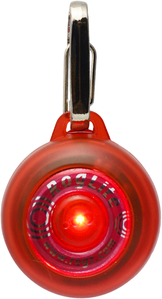 Брелок на ошейник Rogz RogLite, со светодиодной подсветкой, цвет: красный, диаметр 3,1 см0120710Брелок на ошейник Rogz RogLite обеспечит максимальную безопасность вашего питомца: кулон полезен для обнаружения собаки в темное время суток, в пасмурную погоду.Не боится воды и влаги.Различные световые режимы делают кулон особенно интересным.На кулоне есть два вида крепления - выбирайте, какой удобнее для вас.Прекрасно подойдет к любому ошейнику!