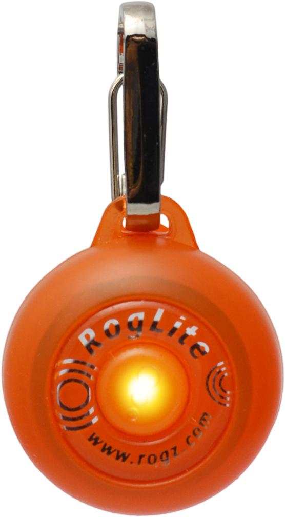 Брелок на ошейник Rogz RogLite, со светодиодной подсветкой, цвет: оранжевый, диаметр 3,1 смHLM501KБрелок на ошейник Rogz RogLite обеспечит максимальную безопасность вашего питомца: кулон полезен для обнаружения собаки в темное время суток, в пасмурную погоду.Не боится воды и влаги.Различные световые режимы делают кулон особенно интересным.На кулоне есть два вида крепления - выбирайте, какой удобнее для вас.Прекрасно подойдет к любому ошейнику!