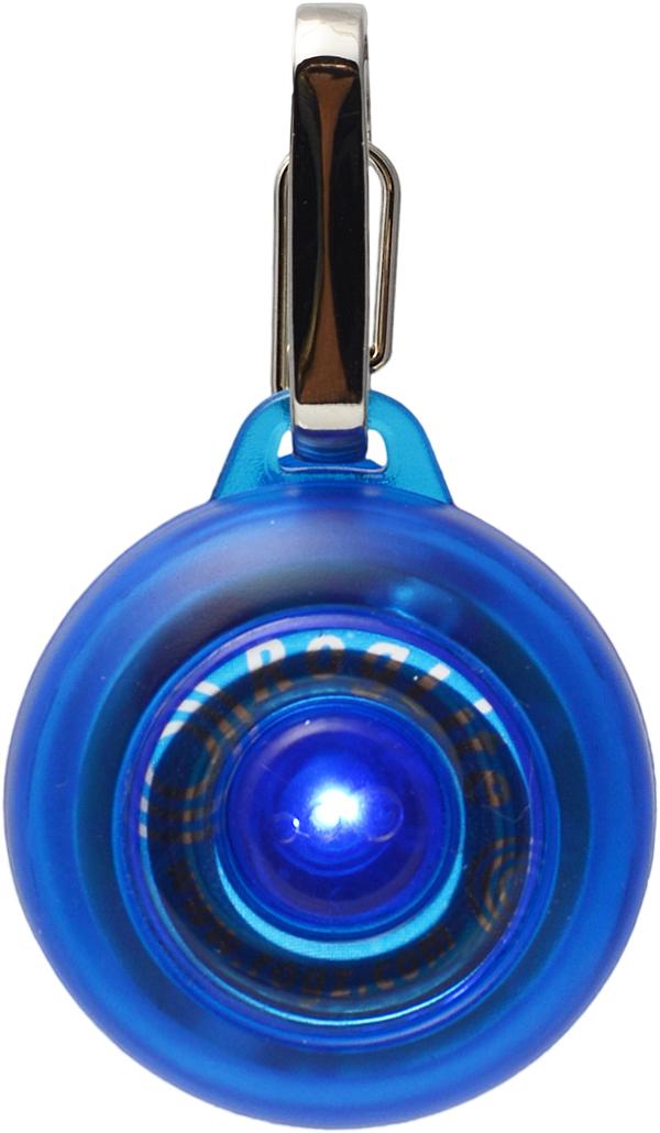 Брелок на ошейник Rogz RogLite, со светодиодной подсветкой, цвет: синий, диаметр 3,1 см0120710Брелок на ошейник Rogz RogLite обеспечит максимальную безопасность вашего питомца: кулон полезен для обнаружения собаки в темное время суток, в пасмурную погоду.Не боится воды и влаги.Различные световые режимы делают кулон особенно интересным.На кулоне есть два вида крепления - выбирайте, какой удобнее для вас.Прекрасно подойдет к любому ошейнику!