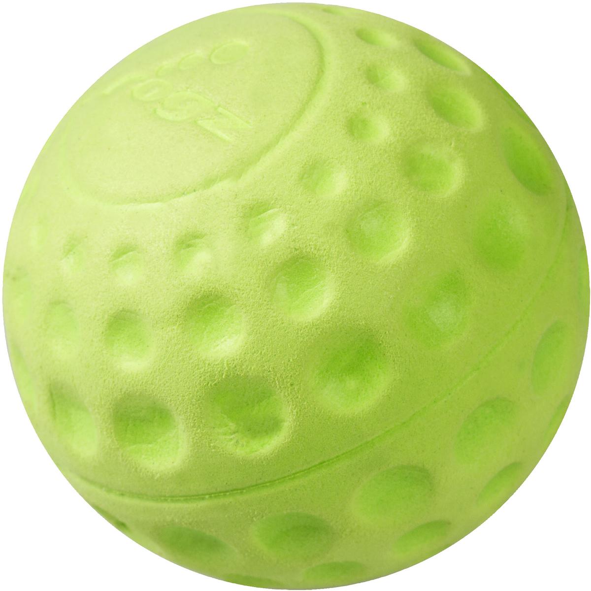 Игрушка для собак Rogz Asteroidz, цвет: лайм, диаметр 6,4 см0120710Мяч для собак Rogz Asteroidz предназначен для игры с хозяином Принеси.Мяч имеет небольшой вес, не травмирует десна, не повреждает зубы, удобно носить в пасти.Отличная упругость для подпрыгивания.Изготовлено из особого термоэла-стопласта Sebs, обеспечивающего великолепную плавучесть в воде, поэтому игрушка отлично подходит для игры в водоеме. Материал изделия: EVA (этиленвинилацетат) - легкий мелкопористый материал, похожий на застывшую пену.Не токсичен.