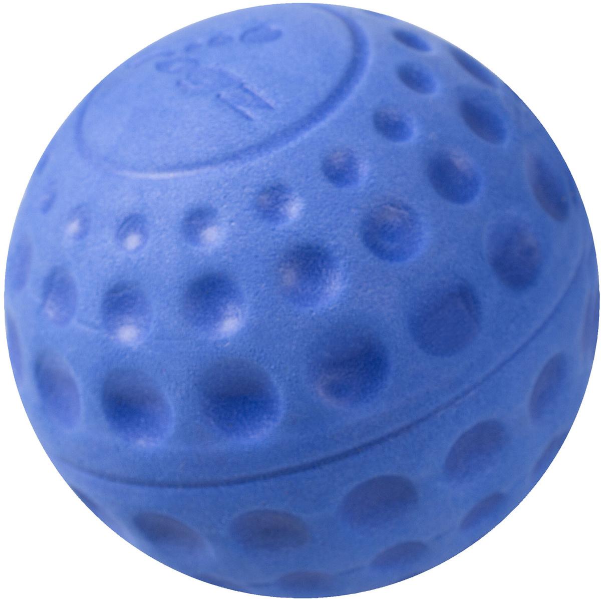 Игрушка для собак Rogz Asteroidz, цвет: синий, диаметр 4,9 см0120710Мяч для собак Rogz Asteroidz предназначен для игры с хозяином Принеси.Мяч имеет небольшой вес, не травмирует десны, не повреждает зубы, удобно носить в пасти.Отличная упругость для подпрыгивания.Изготовлено из особого термоэластопласта Sebs, обеспечивающего великолепную плавучесть в воде, поэтому игрушка отлично подходит для игры в водоеме. Материал изделия: EVA (этиленвинилацетат) - легкий мелкопористый материал, похожий на застывшую пену.Не токсичен.