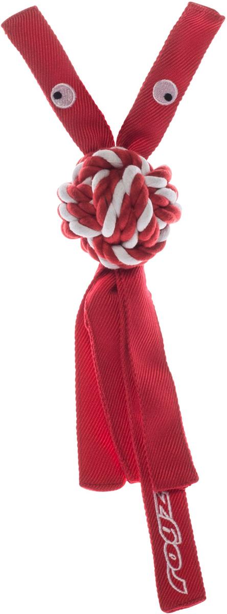 Игрушка для собак Rogz CowBoyz, цвет: красный, 6,4 х 31 см0120710К пищалке, находящейся внутри игрушки Rogz CowBoyz, не останется равнодушной ни одна собака, а прочные и крепкие канаты обеспечат достойную тренировку жевательных мышц!Игрушка типа принеси и А ну-ка отними.Игрушка чистит зубы.