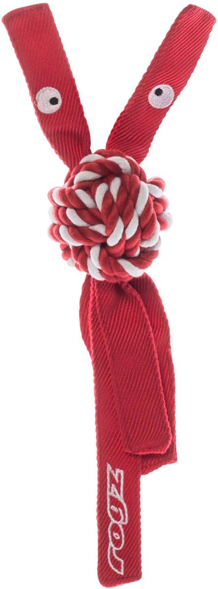 Игрушка для собак Rogz CowBoyz, цвет: красный, 7,8 х 40 см0120710К пищалке, находящейся внутри игрушки Rogz CowBoyz, не останется равнодушной ни одна собака, а прочные и крепкие канаты обеспечат достойную тренировку жевательных мышц!Игрушка типа принеси и А ну-ка отними.Игрушка чистит зубы.