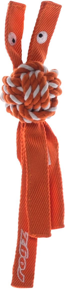 Игрушка для собак Rogz CowBoyz, цвет: оранжевый, 4,9 х 25 см0120710К пищалке, находящейся внутри игрушки Rogz CowBoyz, не останется равнодушной ни одна собака, а прочные и крепкие канаты обеспечат достойную тренировку жевательных мышц!Игрушка типа принеси и А ну-ка отними.Игрушка чистит зубы.