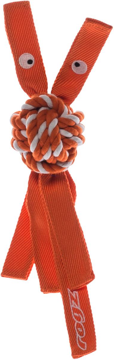 Игрушка для собак Rogz CowBoyz, цвет: оранжевый, 6,4 х 31 см0120710К пищалке, находящейся внутри игрушки Rogz CowBoyz, не останется равнодушной ни одна собака, а прочные и крепкие канаты обеспечат достойную тренировку жевательных мышц!Игрушка типа принеси и А ну-ка отними.Игрушка чистит зубы.