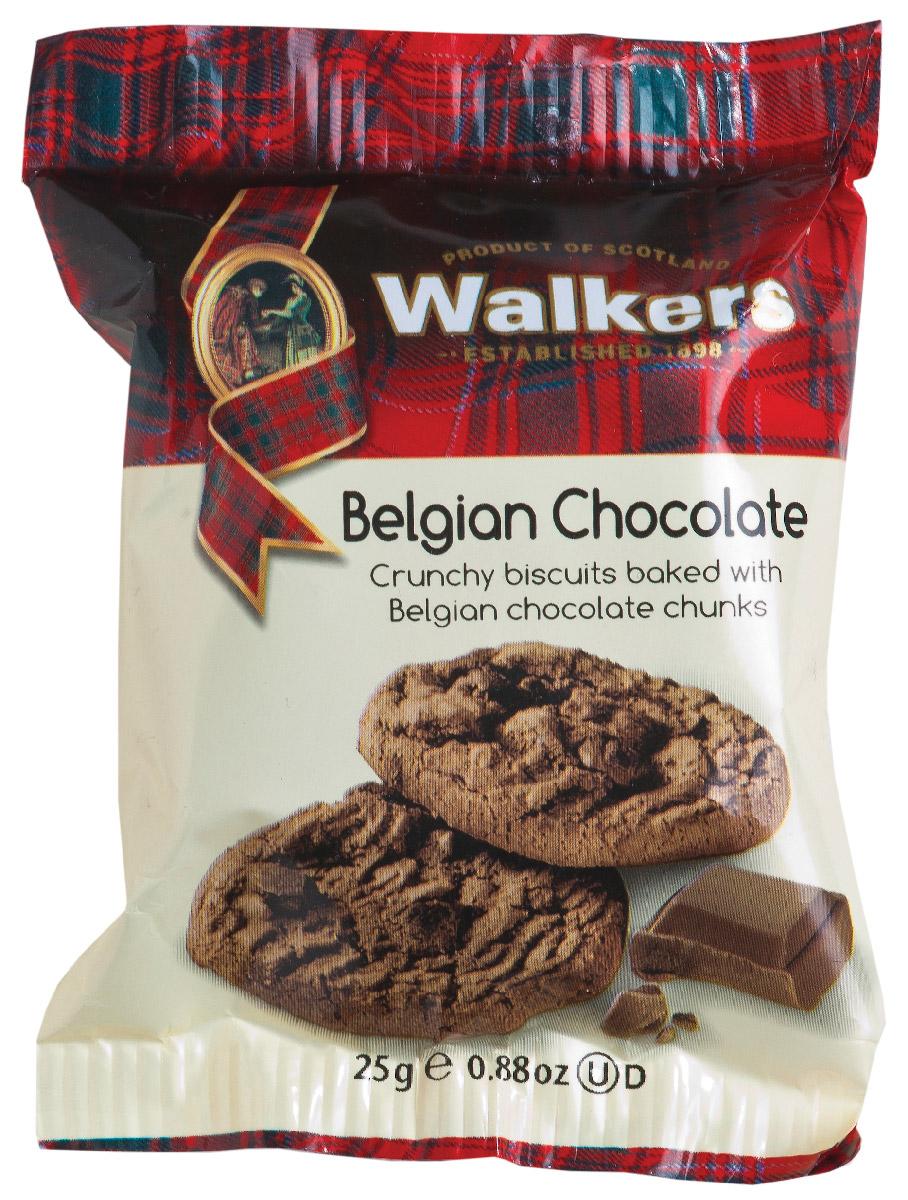 Walkers печенье с бельгийским шоколадом в индивидуальной упаковке, 25 г