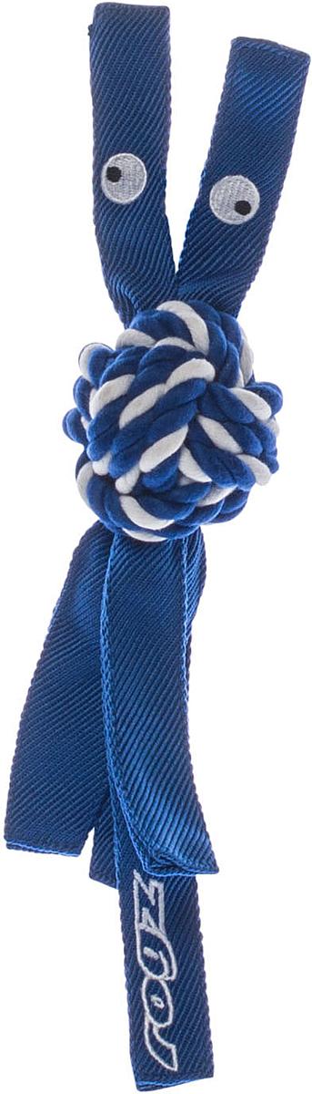 Игрушка для собак Rogz CowBoyz, цвет: синий, 6,4 х 31 см319К пищалке, находящейся внутри игрушки Rogz CowBoyz, не останется равнодушной ни одна собака, а прочные и крепкие канаты обеспечат достойную тренировку жевательных мышц!Игрушка типа принеси и А ну-ка отними.Игрушка чистит зубы.