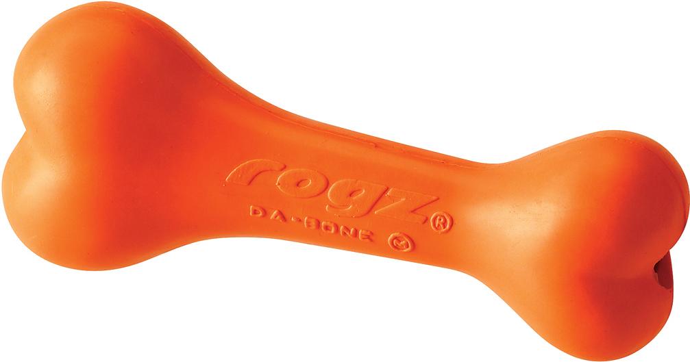 Игрушка для собак Rogz daBone. Косточка, с отверстием для лакомства, цвет: оранжевый, длина 14 см0120710Игрушка для собак Rogz daBone. Косточка с отверстием для лакомства способствует тренировке жевательных мышц и массажирует десна. Можно использовать в качестве аппортировочных предметов.Занимательная игрушка предназначена для долгого жевания или разгрызания - идеальный вариант, когда у вас нет времени, чтобы поиграть с собакой!Имеет маркировку CE.Материал изделия: натуральная резина, кальций карбонат, кварц, масла, красящее вещество. Не токсично.
