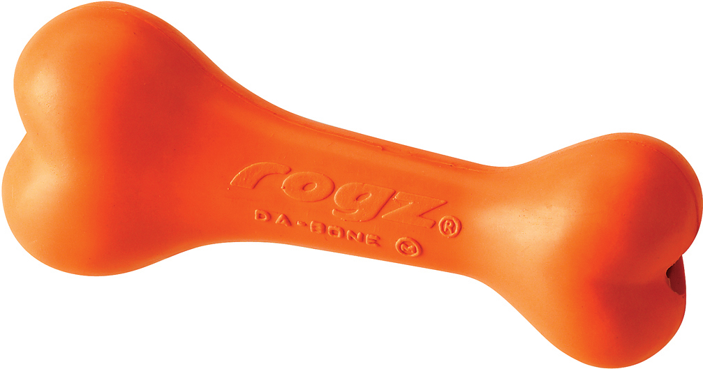 Игрушка для собак Rogz daBone. Косточка, с отверстием для лакомства, цвет: оранжевый, длина 9,5 см0120710Игрушка для собак Rogz daBone. Косточка с отверстием для лакомства способствует тренировке жевательных мышц и массажирует десна. Можно использовать в качестве аппортировочных предметов.Занимательная игрушка предназначена для долгого жевания или разгрызания - идеальный вариант, когда у вас нет времени, чтобы поиграть с собакой!Имеет маркировку CE.Материал изделия: натуральная резина, кальций карбонат, кварц, масла, красящее вещество. Не токсично.