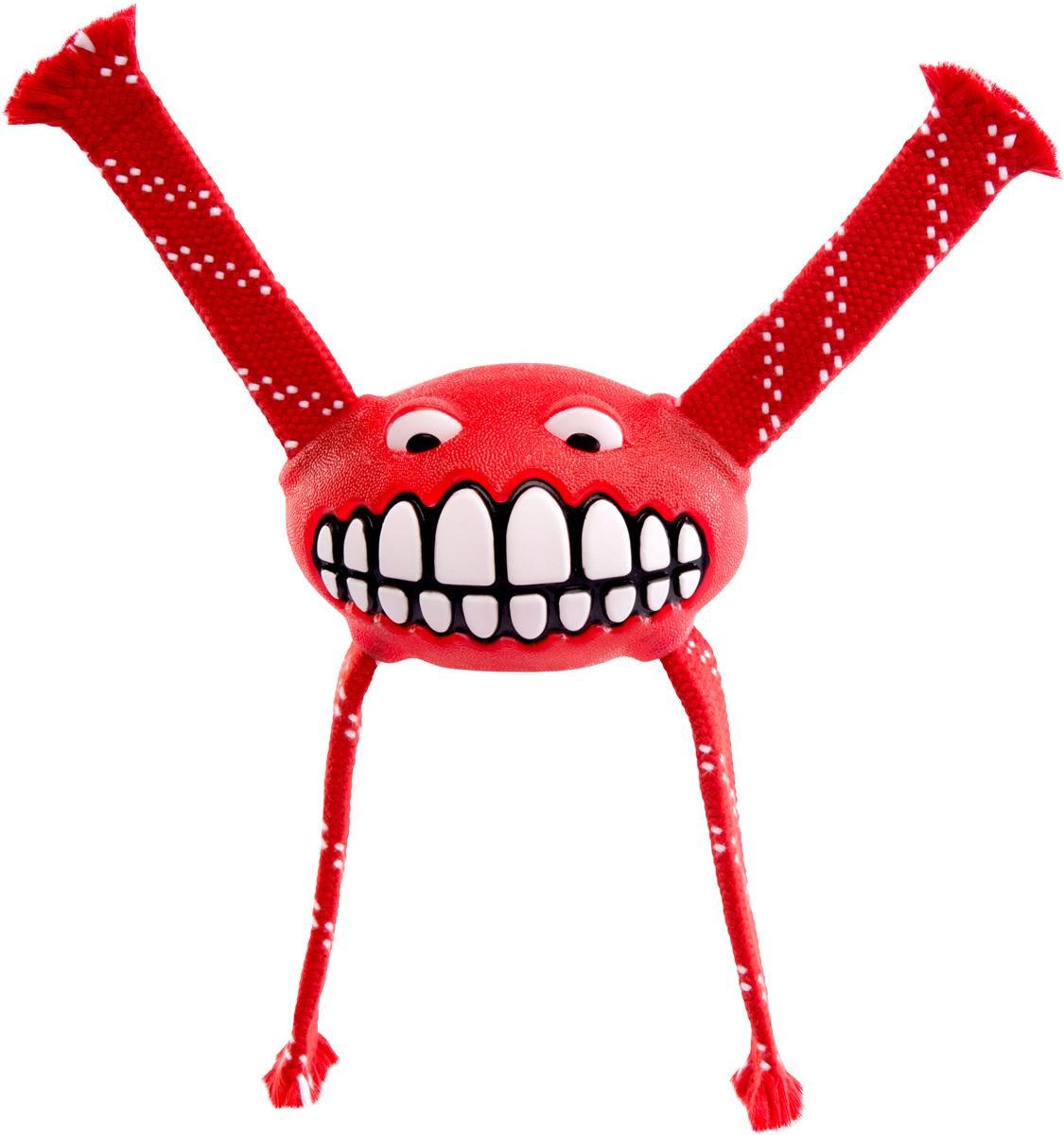 Игрушка для собак Rogz Flossy Grinz. Зубы, цвет: красный, длина 24 смGLG041Игрушка для собак Rogz Flossy Grinz. Зубы типа Отними - очень прочная и крепкая.Внутри – пищалка, что поддерживает интерес животного к игре.Уникальная функция игрушки - чистит язык и зубы.