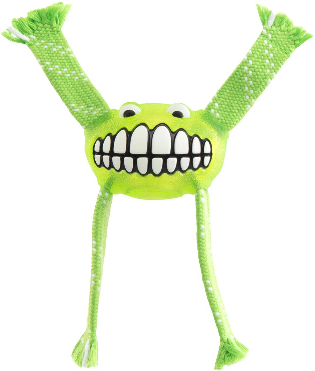 Игрушка для собак Rogz Flossy Grinz. Зубы, цвет: лайм, длина 16,5 смFGR01LИгрушка для собак Rogz Flossy Grinz. Зубы типа Отними - очень прочная и крепкая.Внутри – пищалка, что поддерживает интерес животного к игре.Уникальная функция игрушки - чистит язык и зубы.