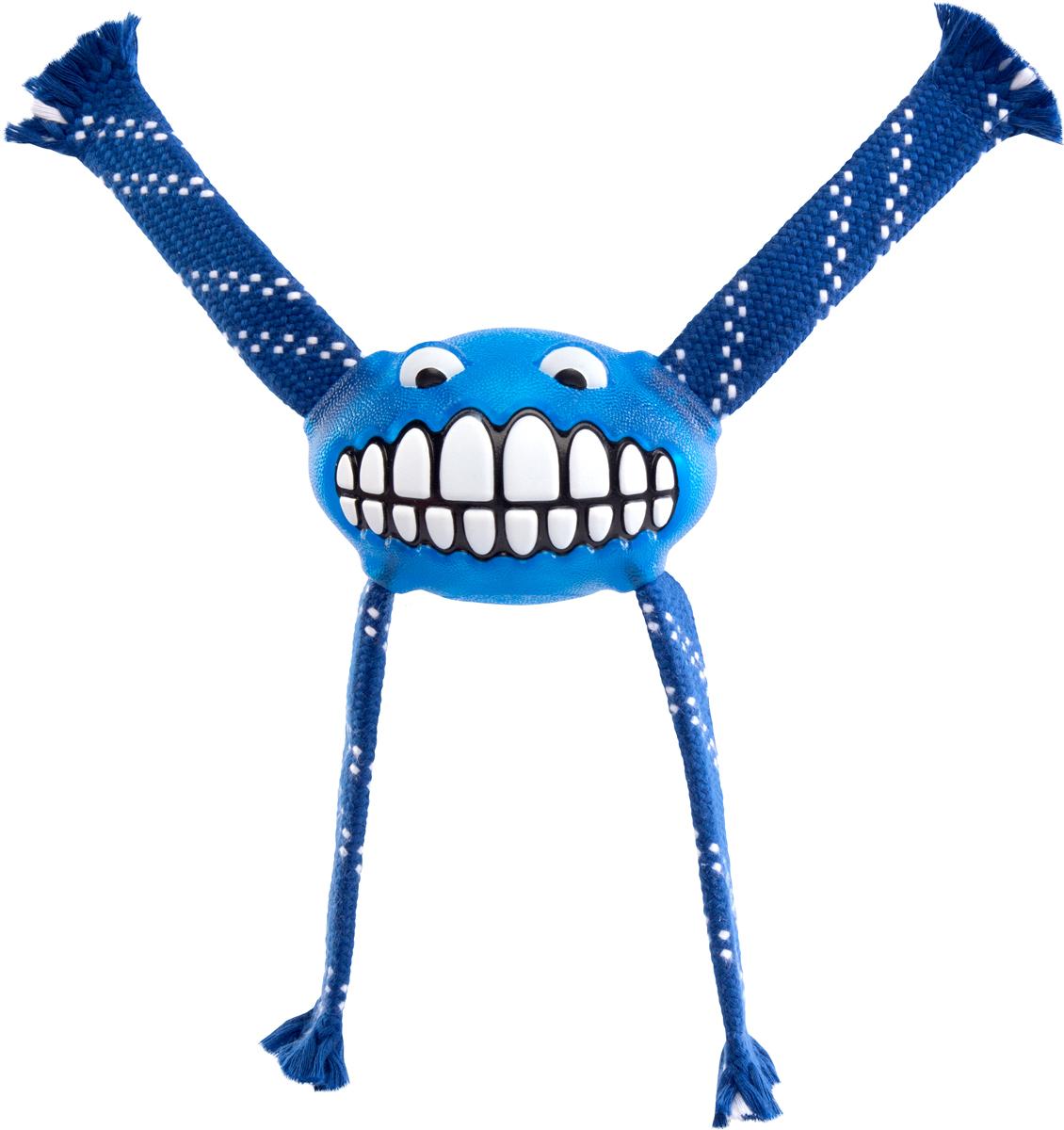 Игрушка для собак Rogz Flossy Grinz. Зубы, цвет: синий, длина 21 см0120710Игрушка для собак Rogz Flossy Grinz. Зубы типа Отними - очень прочная и крепкая.Внутри – пищалка, что поддерживает интерес животного к игре.Уникальная функция игрушки - чистит язык и зубы.