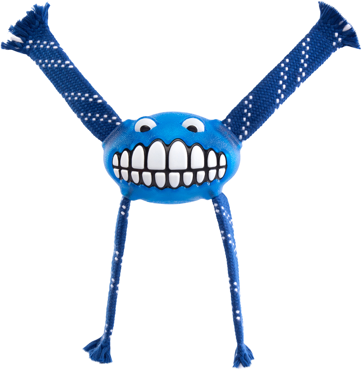 Игрушка для собак Rogz Flossy Grinz. Зубы, цвет: синий, длина 24 см0120710Игрушка для собак Rogz Flossy Grinz. Зубы типа Отними - очень прочная и крепкая.Внутри – пищалка, что поддерживает интерес животного к игре..Уникальная функция игрушки - чистит язык и зубы.