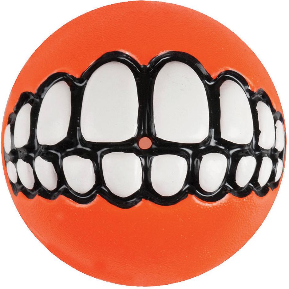 Игрушка для собак Rogz Grinz. Зубы, с отверстием для лакомства, цвет: оранжевый, диаметр 6,4 смGR02DЛегендарный мяч Rogz Grinz. Зубы поднимет настроение каждому!Игрушка со смещенным центром тяжести устроена так, что собака всегда будет поднимать ее вверх зубами.Есть отверстие для лакомства.Мяч отлично подпрыгивает при играх.Изготовлено из особого термоэластопласта Sebs, обеспечивающего великолепную плавучесть в воде.