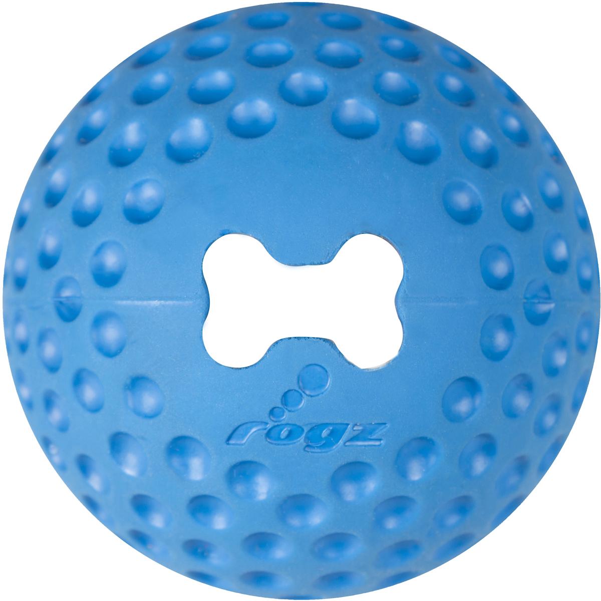 Игрушка для собак Rogz Gumz, с отверстием для лакомства, цвет: синий, диаметр 7,8 см0120710Игрушка для собак Rogz Gumz тренирует жевательные мышцы и массирует десны собаке. Отлично подходит для дрессировки, так как есть отверстие для лакомства.Отлично подпрыгивает при играх.Занимательная игрушка выдерживает долгое жевание и разгрызание. Материал изделия: 85 % натуральной резины, 15 % синтетической резины. Не токсичен.