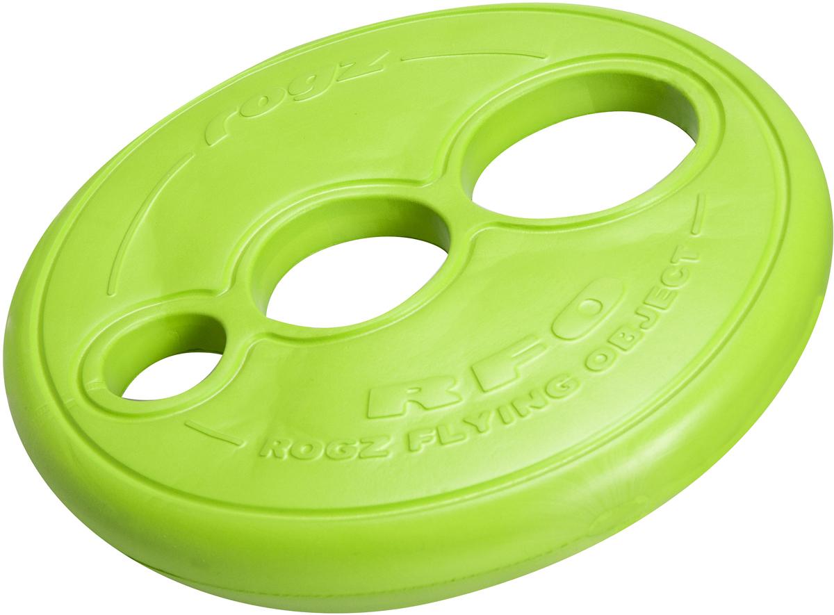 Игрушка для собак Rogz RFO. Тарелка, цвет: лайм, диаметр 23 смRF01LИгрушка для собак Rogz RFO. Тарелка имеет аэродинамичный дизайн со специально подобранным размером отверстий для усиления летательных свойств.Небольшой вес, не травмирует десны, не повреждает зубы.Плотные края и различные размеры отверстий для удобства держания в руке и пасти.Максимальная видимость.Отличная плавучесть.Материал изделия: EVA (этиленвинилацетат) - легкий пористый материал, похожий на застывшую пену.Не токсичен.